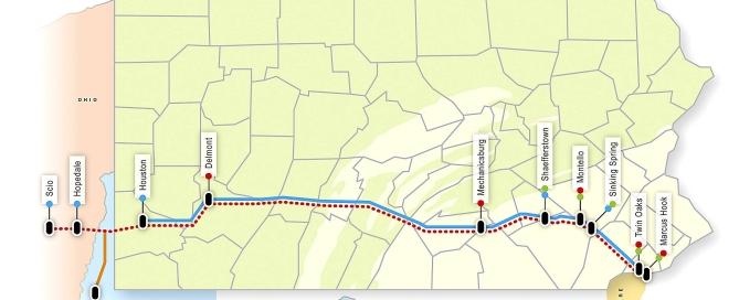 Sunoco Pipeline seeking property in Mt. Pleasant