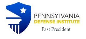 Pennyslvania Defense Institute Past President